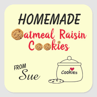 Homemade Oatmeal Raisin Cookie Label Stickers