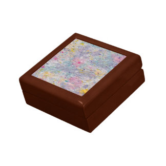 Homemade Paper with Colorful Pulp Accents Gift Box