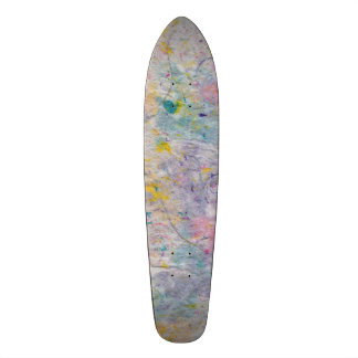 Homemade Paper with Colorful Pulp Accents Skateboard Deck