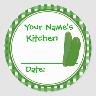 Homemade Pickles Canning Jar Lid Labels Stickers
