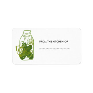 Homemade Pickles Glass Jar Food  Preserves Label