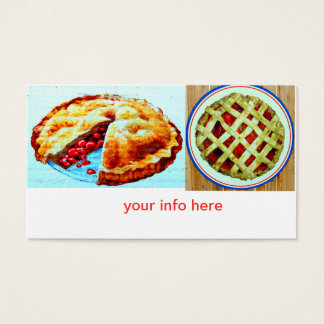 homemade pies business card