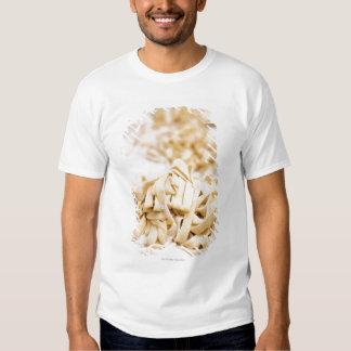 Homemade ribbon pasta, close up tee shirts