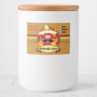 "Homemade Salsa Food Container Label (3"" x 2"")"