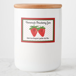 Homemade Strawberry Jam Design Food Label