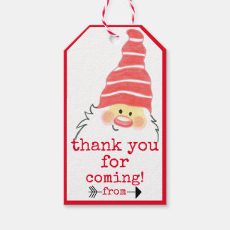 Homemade Sweets Hang Tag Cute Santa Claus |