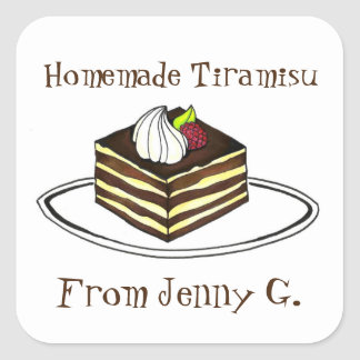 Homemade Tiramisu Personalized Baking Stickers