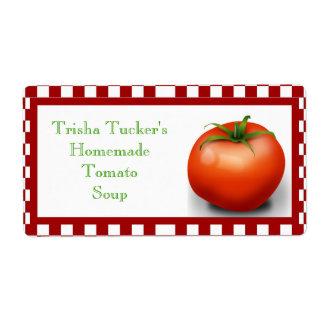 Homemade Tomato Soup Label