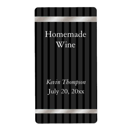 Homemade Wine Label