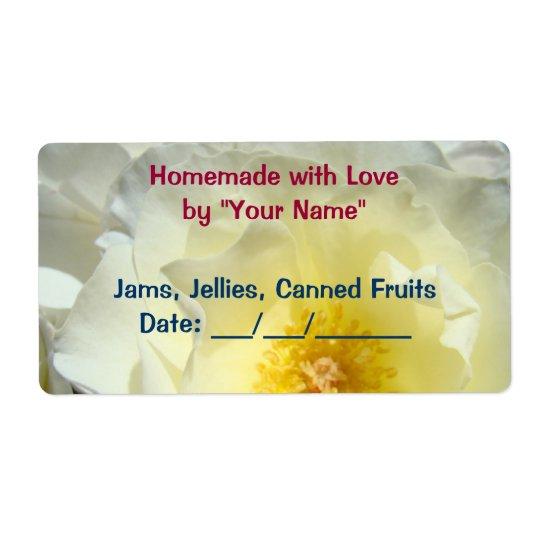 Homemade with Love Jar Jams Jellies Fruit Rose