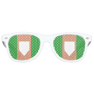 homeplate Adult Retro Party Shades, White Retro Sunglasses