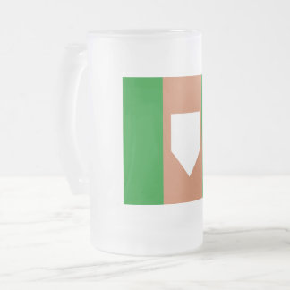 homeplate Frosted 16 oz Frosted Glass Mug