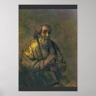 Homer. By Rembrandt Van Rijn  (Best Quality) Print