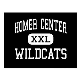 Homer Center - Wildcats - High - Homer City Postcard
