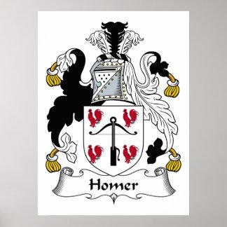Homer Family Crest Poster