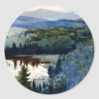 Homer - Indian Village, Adirondacks Classic Round Sticker