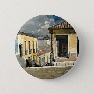 Homer: Santiago de Cuba Street Scene 2 Inch Round Button