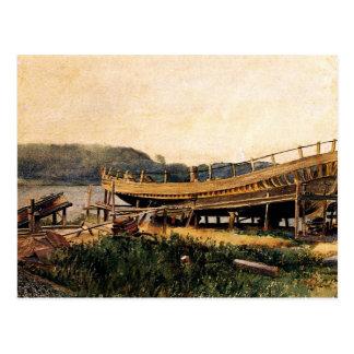 Homer - Shipbuilding, Ipswich Postcard