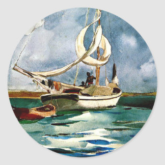 Homer - Sloop, Bermuda Round Sticker