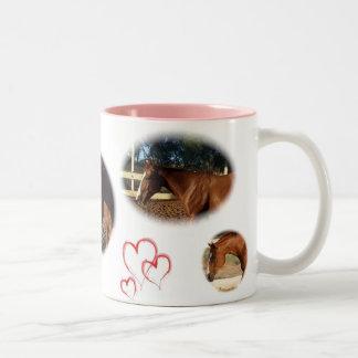 Homer the horse Two-Tone coffee mug