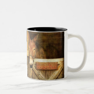 Homer the Mule Two-Tone Coffee Mug