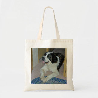 """Homer the St. Bernard"" tote bag"