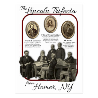 Homer's Lincoln Trifecta Postcards