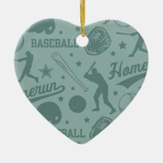 Homerun Baseball Ceramic Ornament
