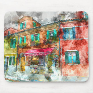 Homes in Burano Italy near Venice Mouse Pad