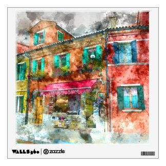 Homes in Burano Italy near Venice Wall Sticker