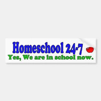 Homeschool 24-7 Bumper Sticker