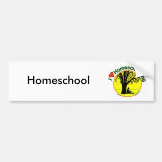 Homeschool Boy Bumper Sticker