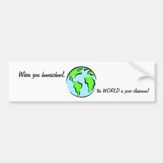 Homeschool Bumpersticker Bumper Sticker