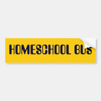 HOMESCHOOL BUS bumper sticker