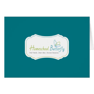 Homeschool Butterfly Note Card