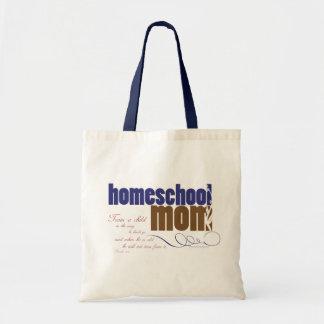 Homeschool chrétien fourre-tout : Maman de Homesch Sac En Toile Budget