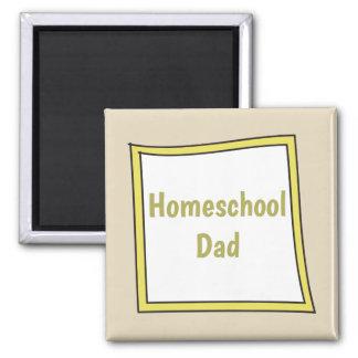 Homeschool Dad Square Magnet