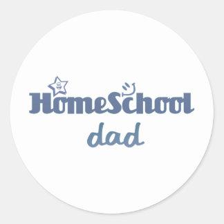 Homeschool Dad Round Sticker