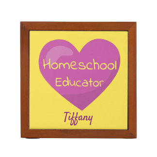 Homeschool Educator beautiful heart Desk Organizer