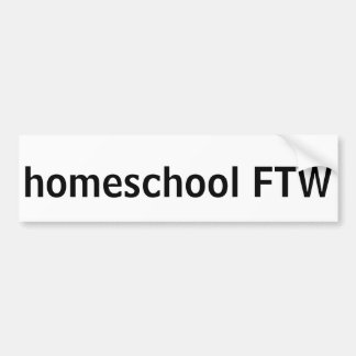 Homeschool FTW Bumper Sticker