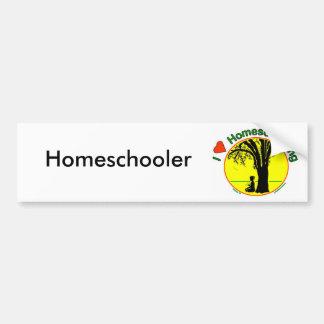 Homeschool Girl Bumper Sticker