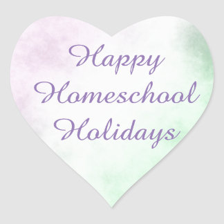 Homeschool Holidays Heart Heart Sticker