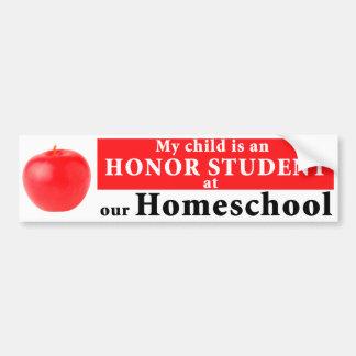 Homeschool Honour Student Bumper Sticker