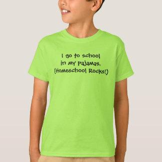Homeschool in pajamas t shirts