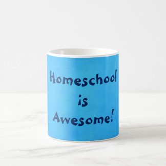 Homeschool is Awesome Blue Coffee Mug