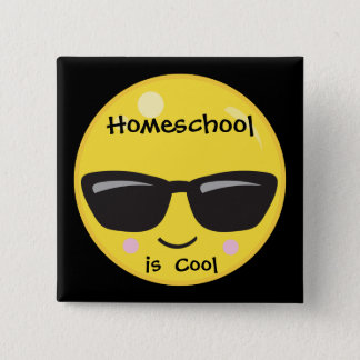 Homeschool is Cool 2 Inch Square Button