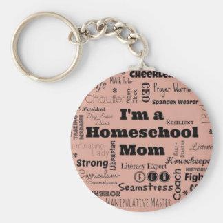Homeschool Mom Basic Round Button Keychain