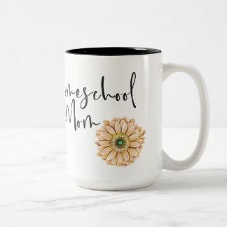 Homeschool Mom Mug with Flower