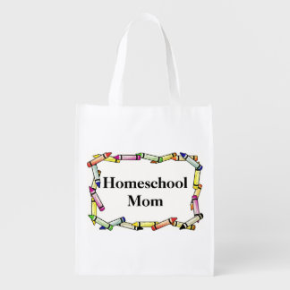 Homeschool Mom Reusable Bag Reusable Grocery Bag