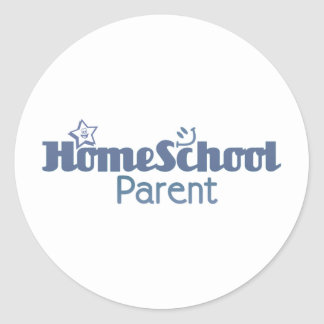 Homeschool Parent Round Sticker